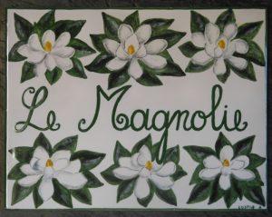 Le magnolie, ceramica