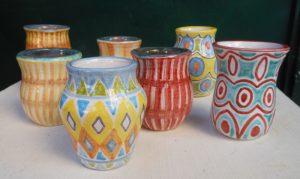 Vasetti mini in ceramica fatti a mano