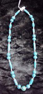 collana ceramica e perline di cristallo