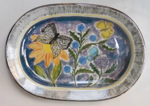 vassoio ceramica dipinto a mano