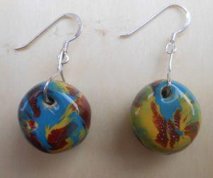 orecchini ceramica variegati