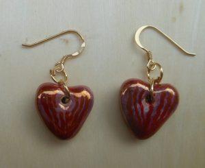 orecchini a cuore con doratura