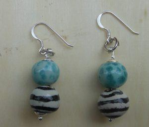 Perle in ceramica dipinte a mano