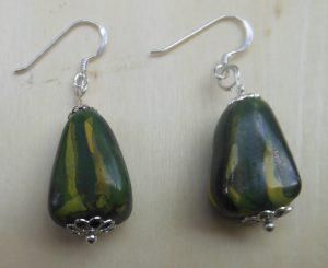 orecchini verdi con argento
