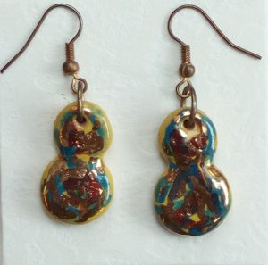 orecchini ceramica policroma