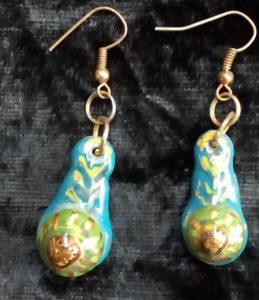 orecchini fatti a mano in ceramica