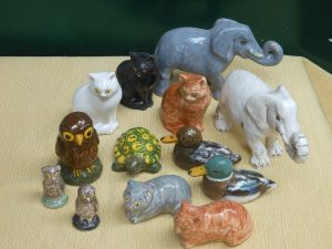 piccoli animali in ceramica