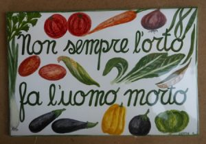 Piastrella con motto