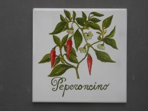 Piastrella con peperoncino