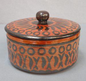 Biscottiera in ceramica fatta amano