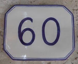 Numero civicoin ceramica dipinto a mano