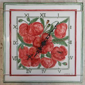 Orologio dipinto a mano in ceramica
