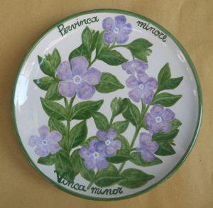 Decorazione floreale su ceramica