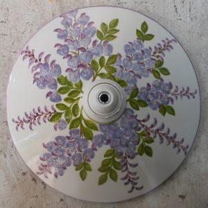 piatto per lampada in ceramica dipinto a mano