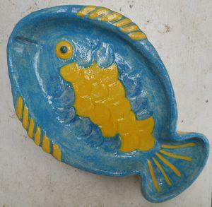 Vassoio a pesce fatto a mano