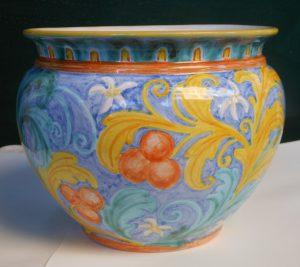 Porta vaso in ceramica fatto a mano