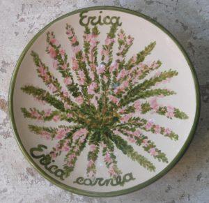 Piattino botanico dipinto a mano