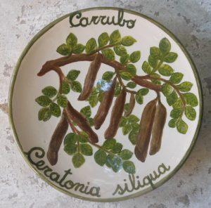 Piattino in ceramica dipinto a mano da appendere