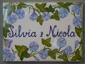 piastrella segnaposto per Wedding