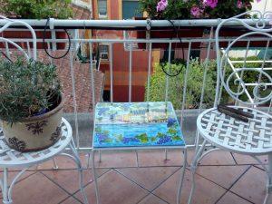 tavolino quadrato piano in ceramica