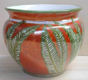 Vaso per pianta in ceramica fatta a mano