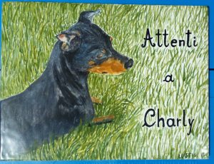 Attenti al cane ceramica