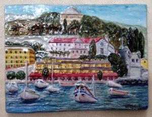Rilievo S. Margherita L. con barche da pesca
