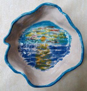 Ciotola forma libera in ceramica