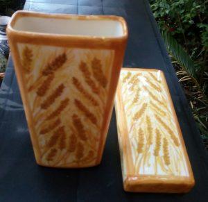 Evaporatori dipinti a mano con spighe di grano