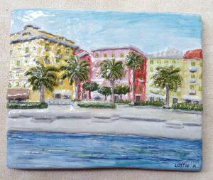 Rilievo in ceramica  di S. Margherita L. zona hotel Lido Palace