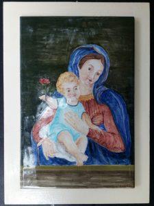 Madonna dipinta su piastrella