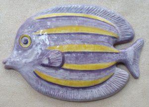 Pesce tropicale in ceramica