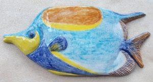Pesce in ceramica policroma