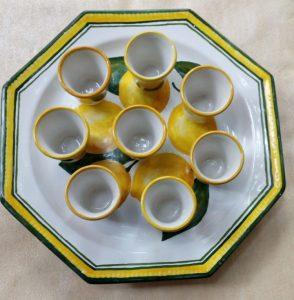 Bicchierini da liquore in ceramica