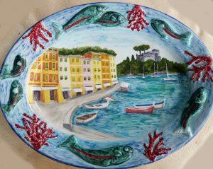 Piatto ovale Portofino