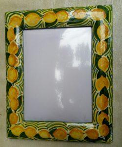 Cornice portafoto con limoni