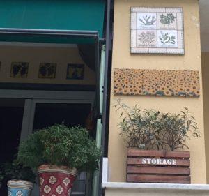 Pannello di piastrelle piante aromatiche