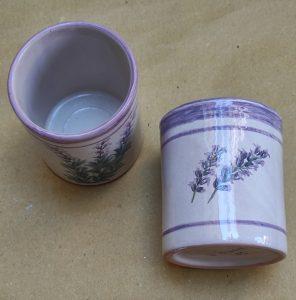 Bicchieri spazzolini in ceramica