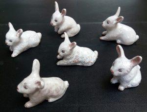 Coniglietti in ceramica
