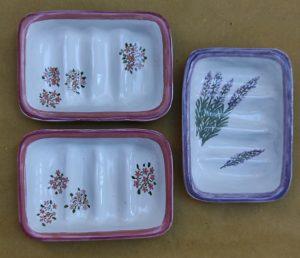 Portasapone in ceramica dipinto a mano