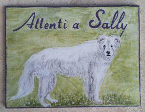 Piastrella con cane personalizzata