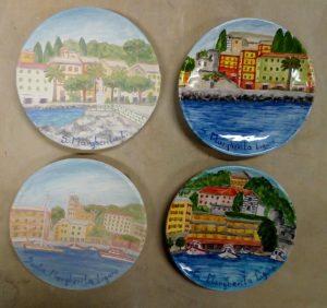 Piattini in ceramica da parete