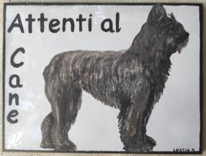 Ceramica Attenti al cane