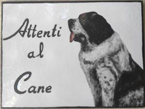 Cane San Bernardo, ceramica made in Italy