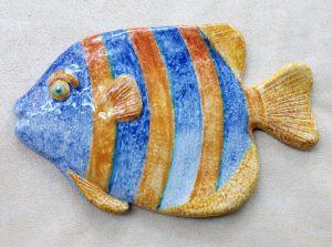 Pesce in ceramica da appendere
