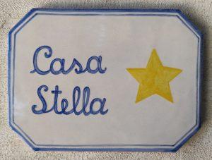 Targhetta Casa Stella handmade in Italy