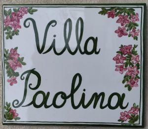 Piastrella villa con decoro personalizzato
