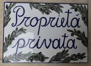 Targa Proprietà Privata in ceramica