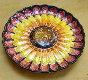 Centrotavola fiore in ceramica