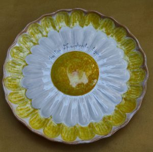 Piatto margherita in ceramica